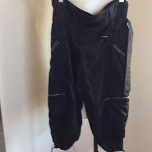 Black silk Burberry zipper pants